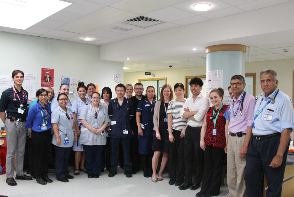 A picture of the Emergency Assessment Unit team who have been shortlisted in the national Parliamentary Awards Programme