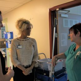 Chief Executive Julie Gillon visiting staff and wards around the Trust
