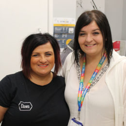 Hospital salon owner Dawn has been styling staff hair for the Shining Stars award evening