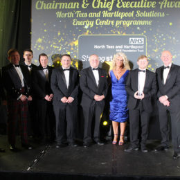 Chairman and Chief Executive on stage with colleagues at the Shining Stars Awards