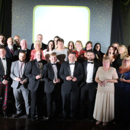 Shining stars winners on stage at the nights event