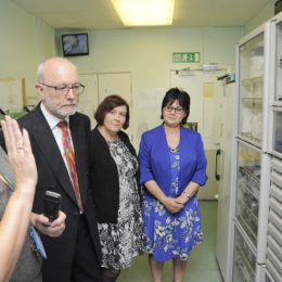 Alex Cunningham MP tours the pharmacy department at North Tees Hospital