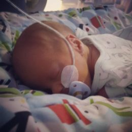 Newborn Harry in the special care baby unit