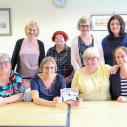 Group photograph of trainee nurse reunion group