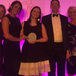 Sarah Neilson and colleagues, finalists in Healthcare People Management Awards in the Capsticks Award for Innovation in HR.