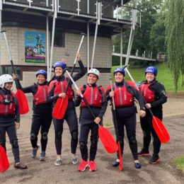 Haematology team prepare to white water raft