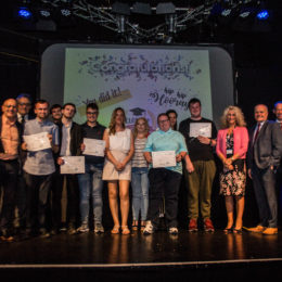Project choice graduates on stage