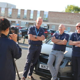 Volunteer Drivers being filmed for the Helpforce awards