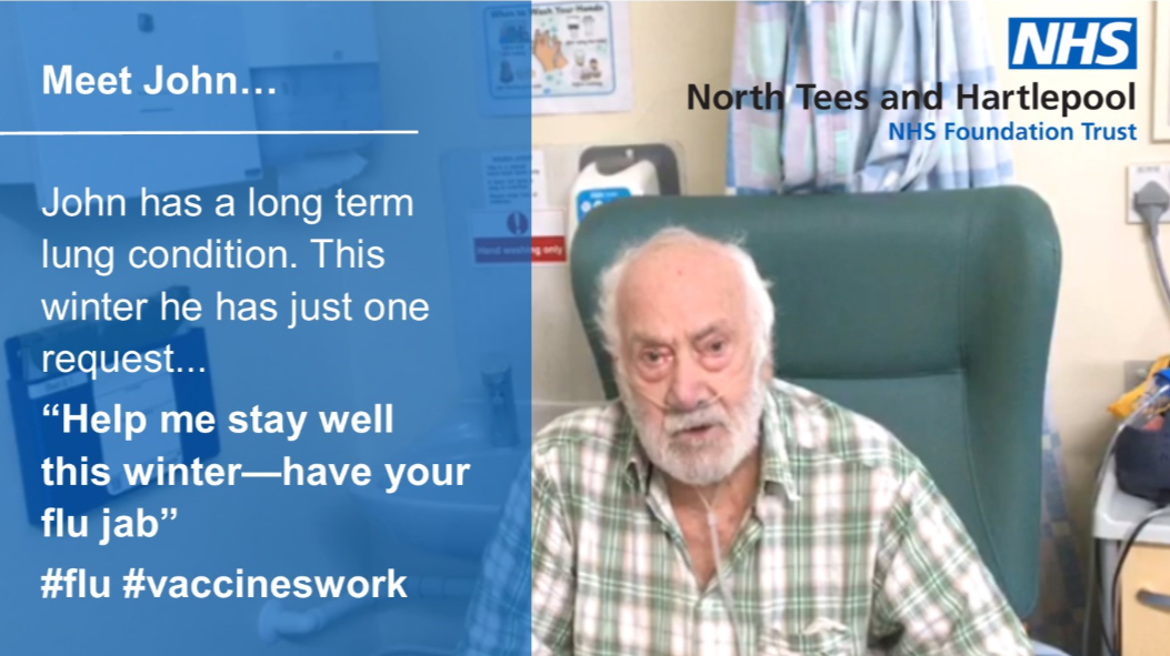 Patient john asks the public to get their flu jab