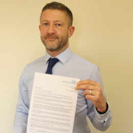Image of Levi Buckley, Vhief Operating Officer with his letter to Teesside
