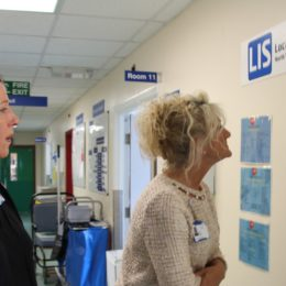 Chief Executive Julie Gillon tours some of the Wards at North Tees Hospital