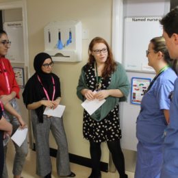 Students from new medical school take tour around North Tees hospital