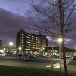 Image of University Hospital of North Tees mid storm