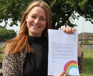 """In an emotional letter to the loved ones of staff from North Tees and Hartlepool NHS Foundation Trust, Chief Executive, Julie Gillon has described recipients as being her colleagues 'super power' during the ongoing COVID-19 pandemic. The correspondence sent to all trust staff to share with their loved ones and support networks is part of a continued campaign of thanks and gratitude to communities across the Tees Valley from the hospitals in Stockton and Hartlepool. Barbara Bright, Director of Corporate Services and Chief of Staff said of the initiative """"our staff have all pulled together in typical North Tees and Hartlepool style throughout the pandemic. There has been a need to change so much of our business as usual, and the impact of that on our colleagues has been significant. She continues """"the loved ones of our staff have in essence been our 'twelfth man' to use a Teesside footballing analogy. They have been our staff' cheerleaders and their comfort after they arrive home. We really cannot underestimate their role in helping us to stay focused during the pandemic"""". The letter was released to the Trusts 5,500 staff to share with their loved ones and support networks, who the Chief Executive has described as 'all being key workers' since the virus began earlier this year. One member of staff who received the letter described it as 'a really lovely idea, so special'."""