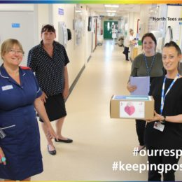 Community and Wellbeing team deliver one of their care packages to fellow colleagues