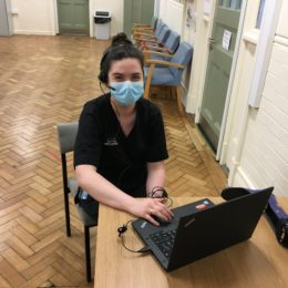 Orthotist Abby Patterson supports patients through Attend Anywhere