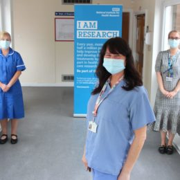 Breast cancer staff celebrate their trial success