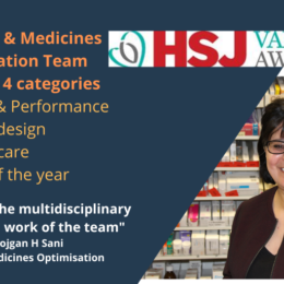 Pharmacy and medicines team finalists in four categories: Operations and performance, specialist redesign, respiratory care, HSJ award of the year