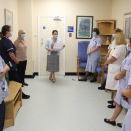 Colleague taking part in special patient safety and quality huddles