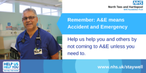 #DoYourBit to protect the NHS by keeping A&E free for serious emergencies