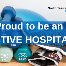 Social Card: Proud to be an active hospital