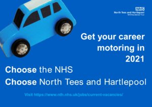 Get your career motoring - choose the NHS, Choose North Tees and Hartlepool