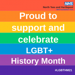 The trust is supporting LGBT+ history month