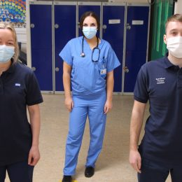 Therapy team from critical care