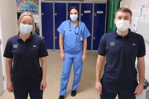 Therapy team from critical care backing mental health awareness week.