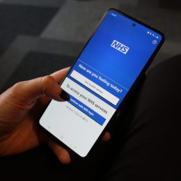 NHS App on a mobile device