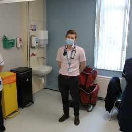 The long covid clinic team in lung health at North Tees.
