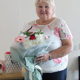 Lynn Armstrong on her retirement day