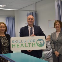 Stockton Riverside College Principal, Lesley Graham, Darren Hankey, Principal and Chief Executive of Hartlepool College of Further Education and Tracy Squires, deputy chief people officer at North Tees and Hartlepool NHS Foundation Trust